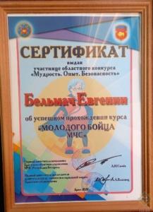 Награда за мастерство, талант и опыт в вопросах безопасности (2)